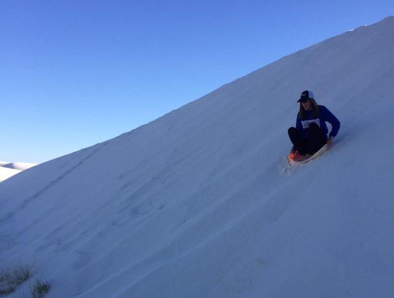 Sand sledding!