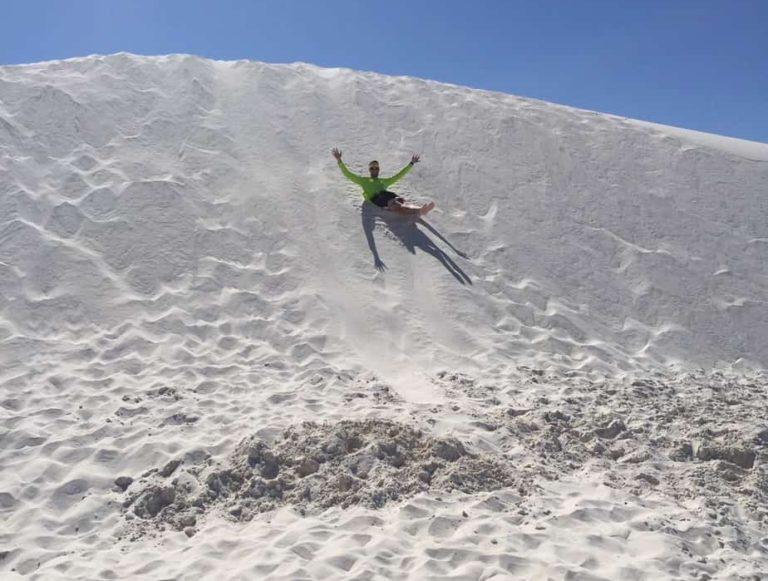 More sand sledding!