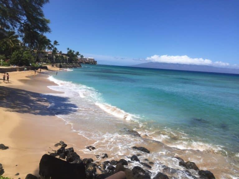 Beach at our condo in Maui