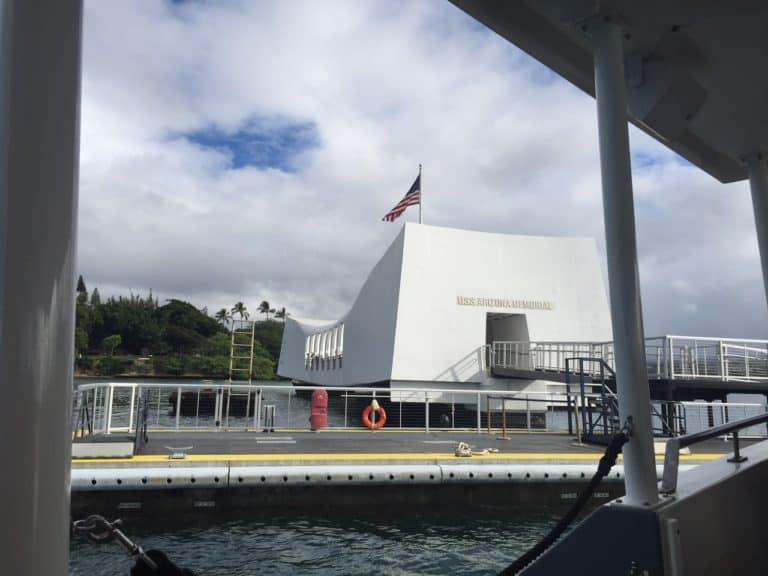The Arizona Memorial at Pearl Harbor