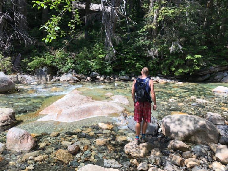 Exploring off the Franklin Falls Trail 1036
