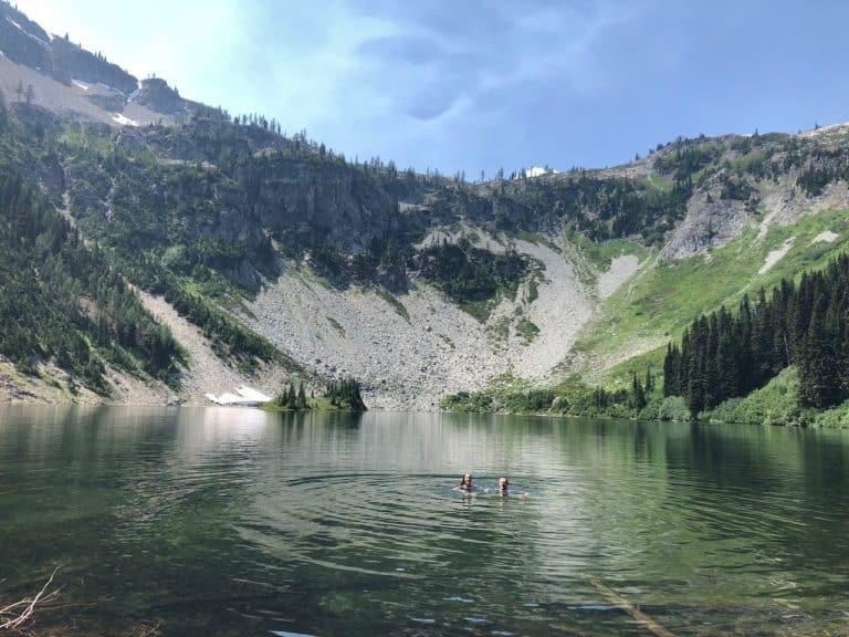 A perfect, post-hike swim!