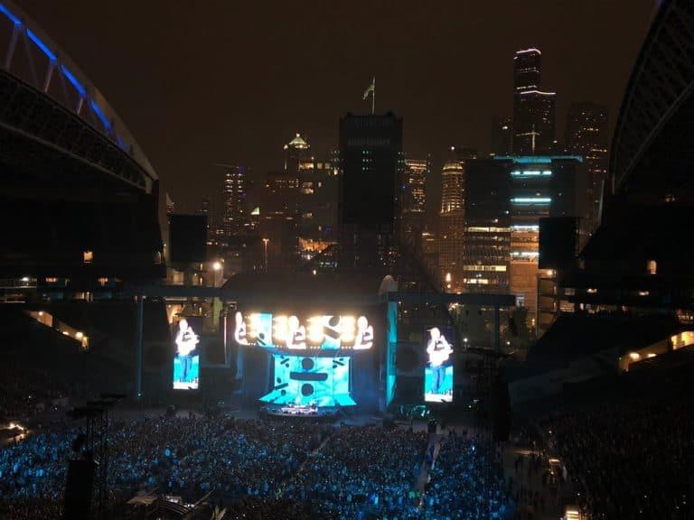 Ed Sheeran crushing it at Century Link Field!