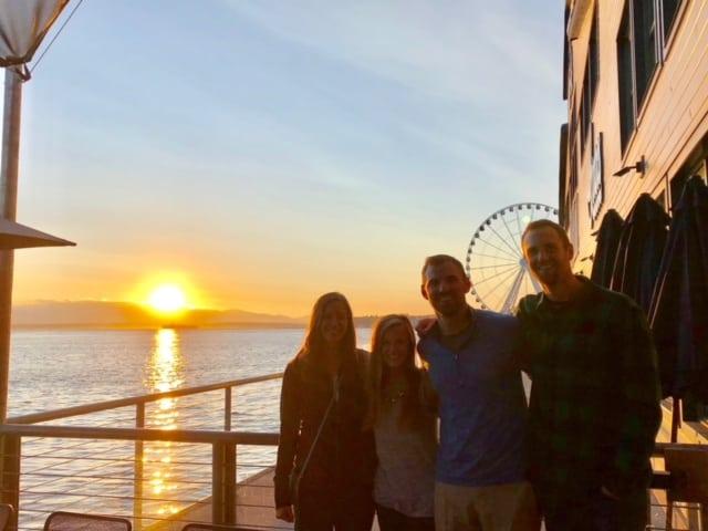 Sunset off Ivar's deck!