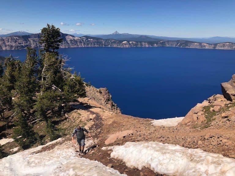 Finding snow on Garfield Peak Trail