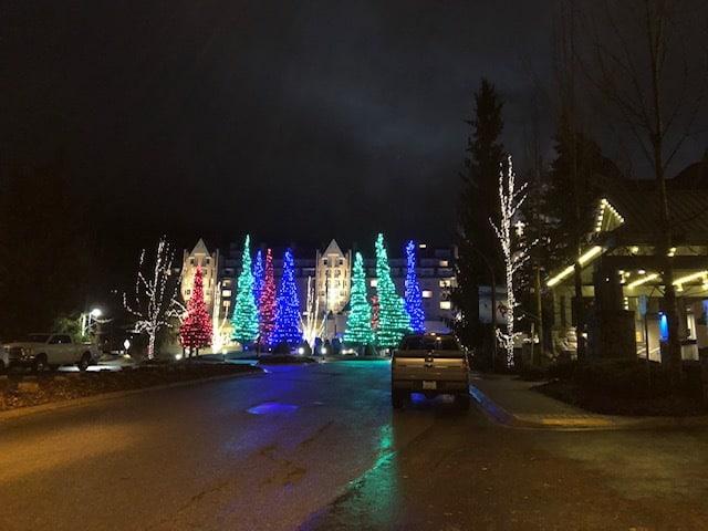 Upper Village lit up at night!