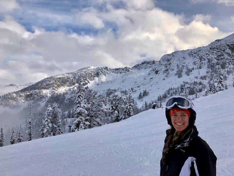 Enjoying the fresh snow!