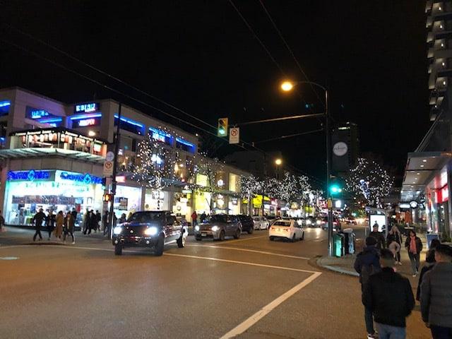 Shopping on Robson Street