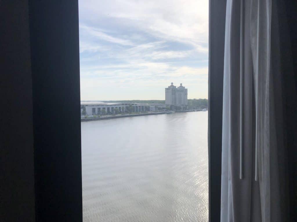 Savannah River view from the Hyatt Regency