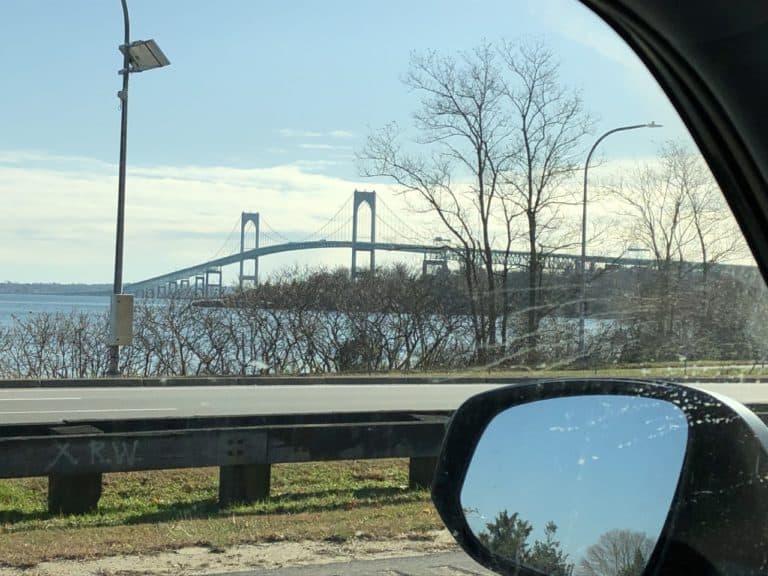 The bridge over to Newport!